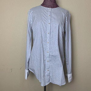 Michael Stars Fletcher Striped Button Front Top